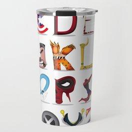 The ABC of the MCU - Horizontal Travel Mug