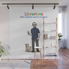 Librarians (the original search engine) Wall Mural