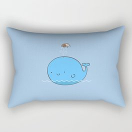 The Whale and the Snail Rectangular Pillow