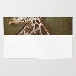 Giraffes Passing in the Night Rug