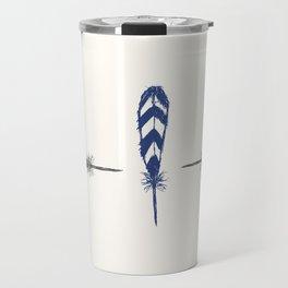Minimal Feathers Travel Mug