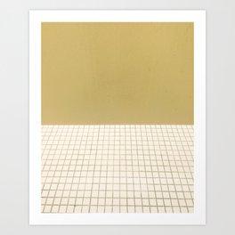 Yellow & Grid Art Print