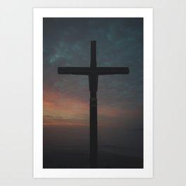 Watcher's Cross of Naszály mountain Art Print