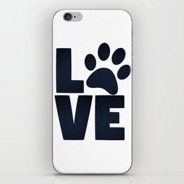 Love Pets Paw Cat Dog Cute iPhone Skin