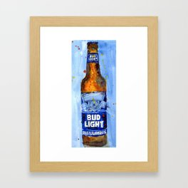 Bud Light - Budwiser American Beer Framed Art Print