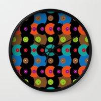 records Wall Clocks featuring Vinyl records by Le Vent & La Discorde