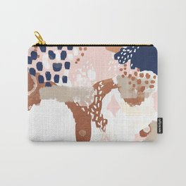 Sonia - rose gold navy copper modern abstract rosegold trendy pattern cell phone accessories Carry-All Pouch