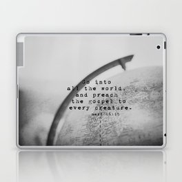 Mark 16:15 Go Into All the World Great Commission Laptop & iPad Skin