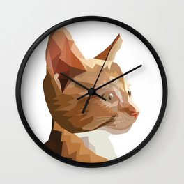 Geometric Kitten Digitally Crafted Wall Clock