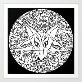 Pentagram'O'Ram Art Print