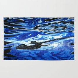Jerry Garcia Blues Acrylic Painting Grateful Dead Rug