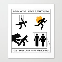 A Day In The Life Of A Stuntman Canvas Print