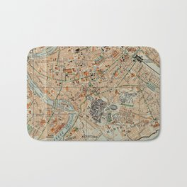 Vintage Map of Rome Italy (1911) Bath Mat