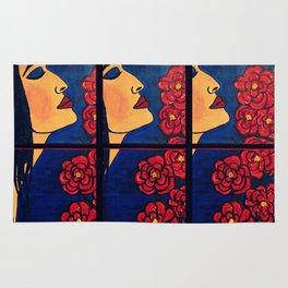 Dulce Dianthus - Triptych Rug