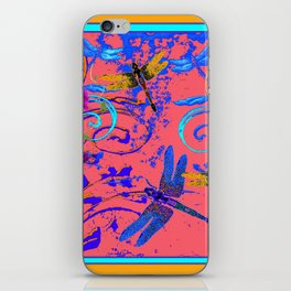 Decorative Abstract Blue Dragonflies Nature Landscape iPhone Skin