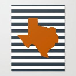 Texas orange and white university texans longhorns college football sports Canvas Print