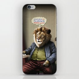 Hungry Lion iPhone Skin