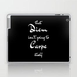 Carpe Diem - Black Laptop & iPad Skin