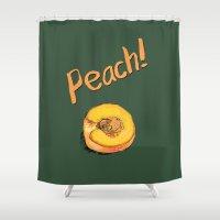 princess peach Shower Curtains featuring Peach by Ken Coleman