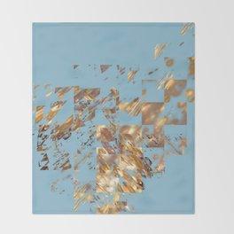 Bronze on Aqua Square #abstract #society6 #decor #geometry #minimalism Throw Blanket