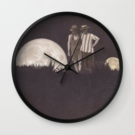Moon on a meadow vintage 1920s Wall Clock