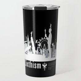 One Sixth Ism (White World) Travel Mug