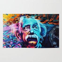 Urban Street Art: Albert Einstein Wall Mural Rug
