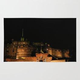 Edinburgh Castle by Night Rug
