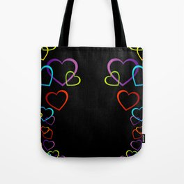 colorful valentine hearts art Tote Bag