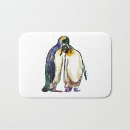 Penguin couple Bath Mat