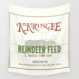 Christmas Reindeer Feed sack Wall Tapestry