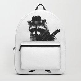 Raccoon wielding ukulele Backpack