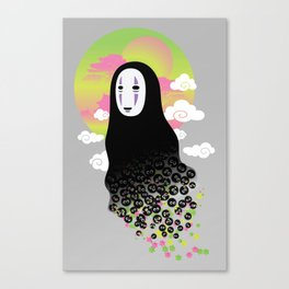 No Face and Soot Sprites Canvas Print