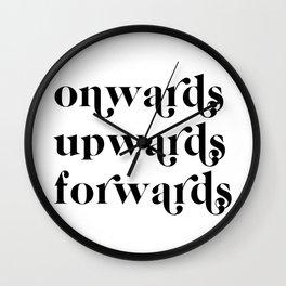 onwards upwards forwards Wall Clock