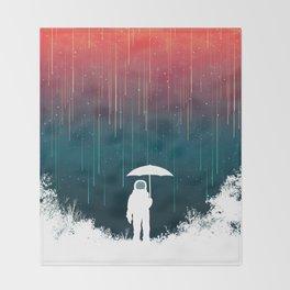 Meteoric rainfall Throw Blanket