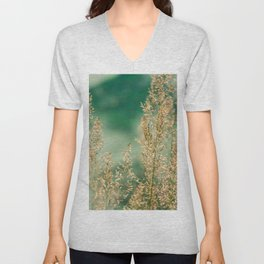 Grass on the water Unisex V-Neck