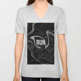 abstract liquid XXII - 22 - RUN Unisex V-Neck