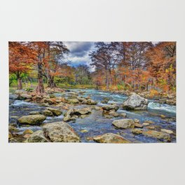 Guadalupe River In Autumn Rug