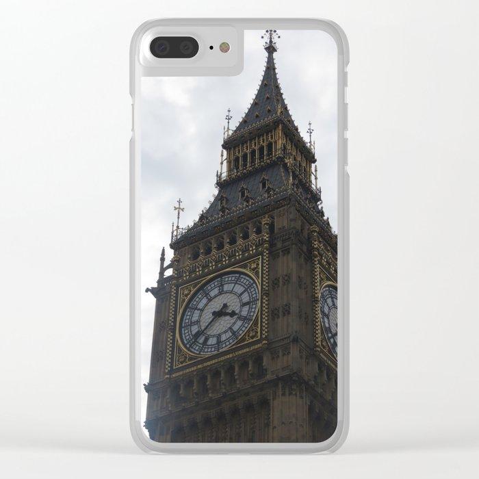 Big Ben/Elizabeth Tower in London England Clear iPhone Case