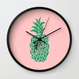 Rad Pineapple Wall Clock