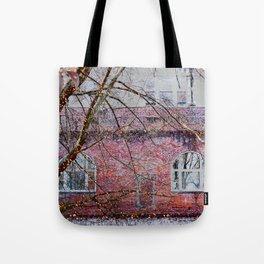 Brick Exterior with Lights Tote Bag