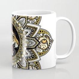 Black and Gold Roaring Tiger Mandala With 8 Cat Eyes Coffee Mug