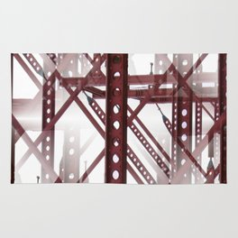 Red Steel Construction Rug