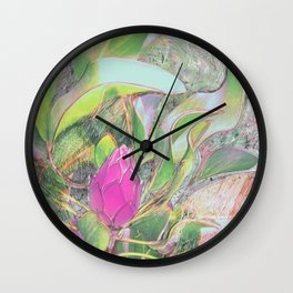 Protea Sketching in Bright Lights Wall Clock