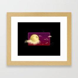 Magenta Night Sky Framed Art Print