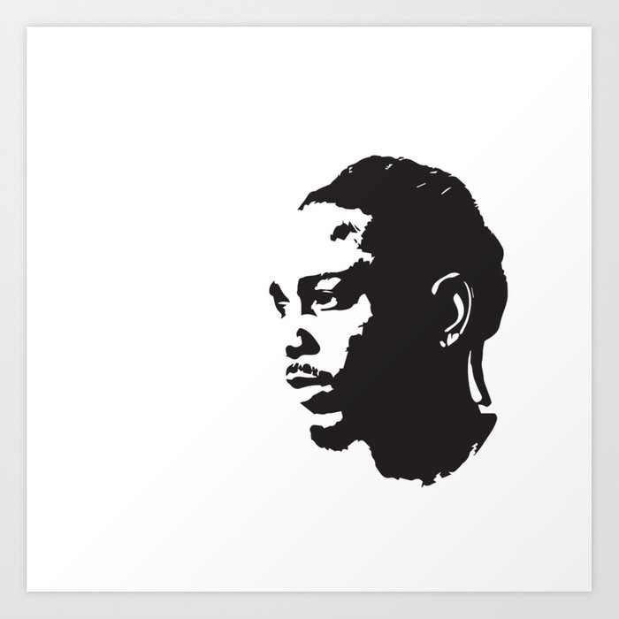 kendrick lamar pop art black and white art print by heyitsmebev