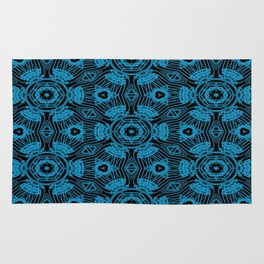 Black and Blue String Art 4406 Rug