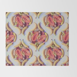 Fruit Salad - a tropical pattern  Throw Blanket