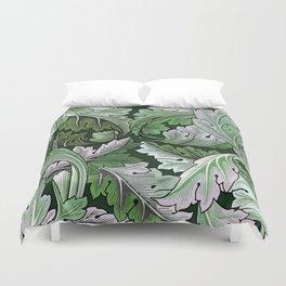 Art Nouveau William Morris Green Acanthus Leaves Duvet Cover
