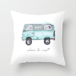 Canadian Road Trip Throw Pillow